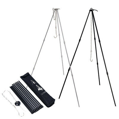 Outdoor Camping Tripod Portable Cooking Campfire Pots Holders Durable Picnic
