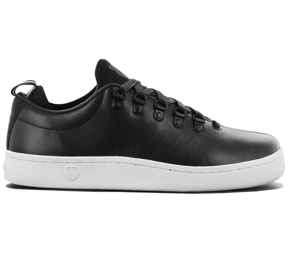 K-Swiss Classic 88 Herren Sneaker Schuhe Leder Schwarz Turnschuhe 66 05370002