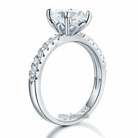 925 Sterling Silver Bridal Wedding Engagement Promise Ring 2 Ct Jewelry Fr8212