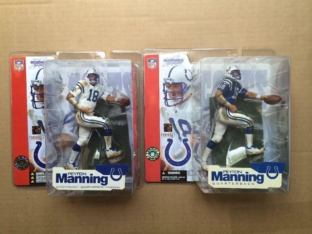 Peyton Manning Series 4 Mcfarlane Indianapolis Colts Variant Blau Jersey Lot Set