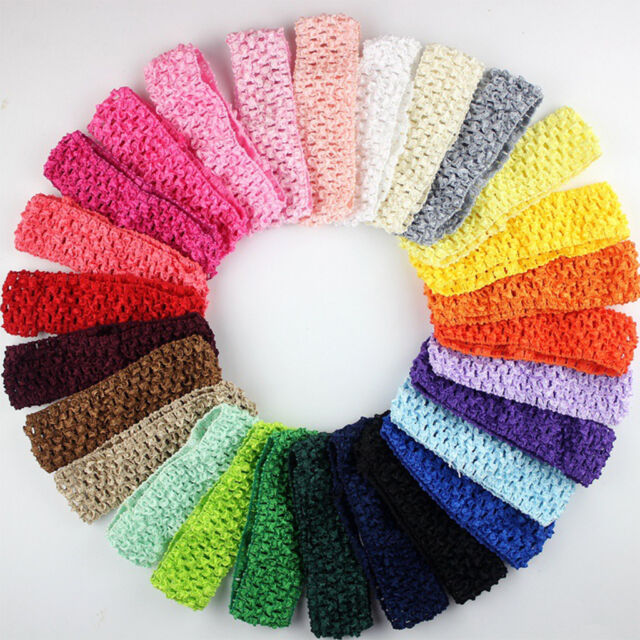12Pcs Kids Baby Girl Elastic Hair Band Crochet Headband DIY Headwear  Accessories b6a608fbdc3