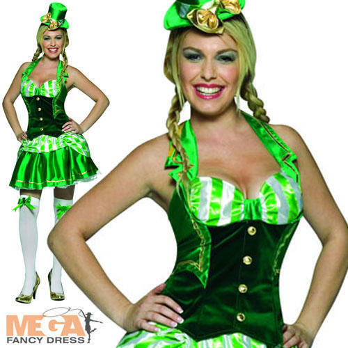 Shamrock Sweetheart St Patricks Day Ladies Leprechaun Fancy Dress Irish Costume