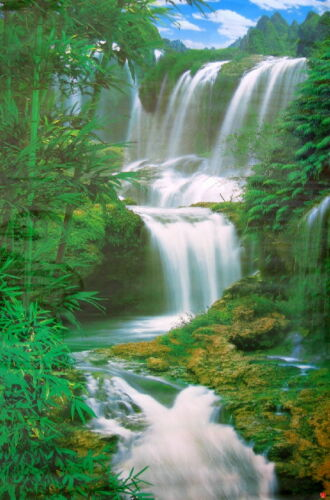 NEW 5 FT Forest Waterfall POSTER WALL MURAL WALL DECOR