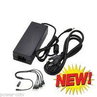 Ac Dc Power Adapter 12v 7amp + Power Splitter Kit For 8 Cctv Security Camera