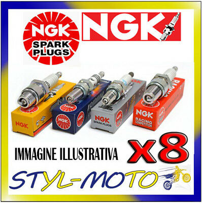 KIT 8 CANDELE NGK SPARK PLUG UR4 PONTIAC Firebird 5.0 H 4 bbl CID305 1980