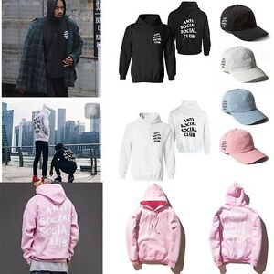 8a10d961c223 Men Women Anti Social Social Club Hoodie Pullover Kanye Sweatshirt ...