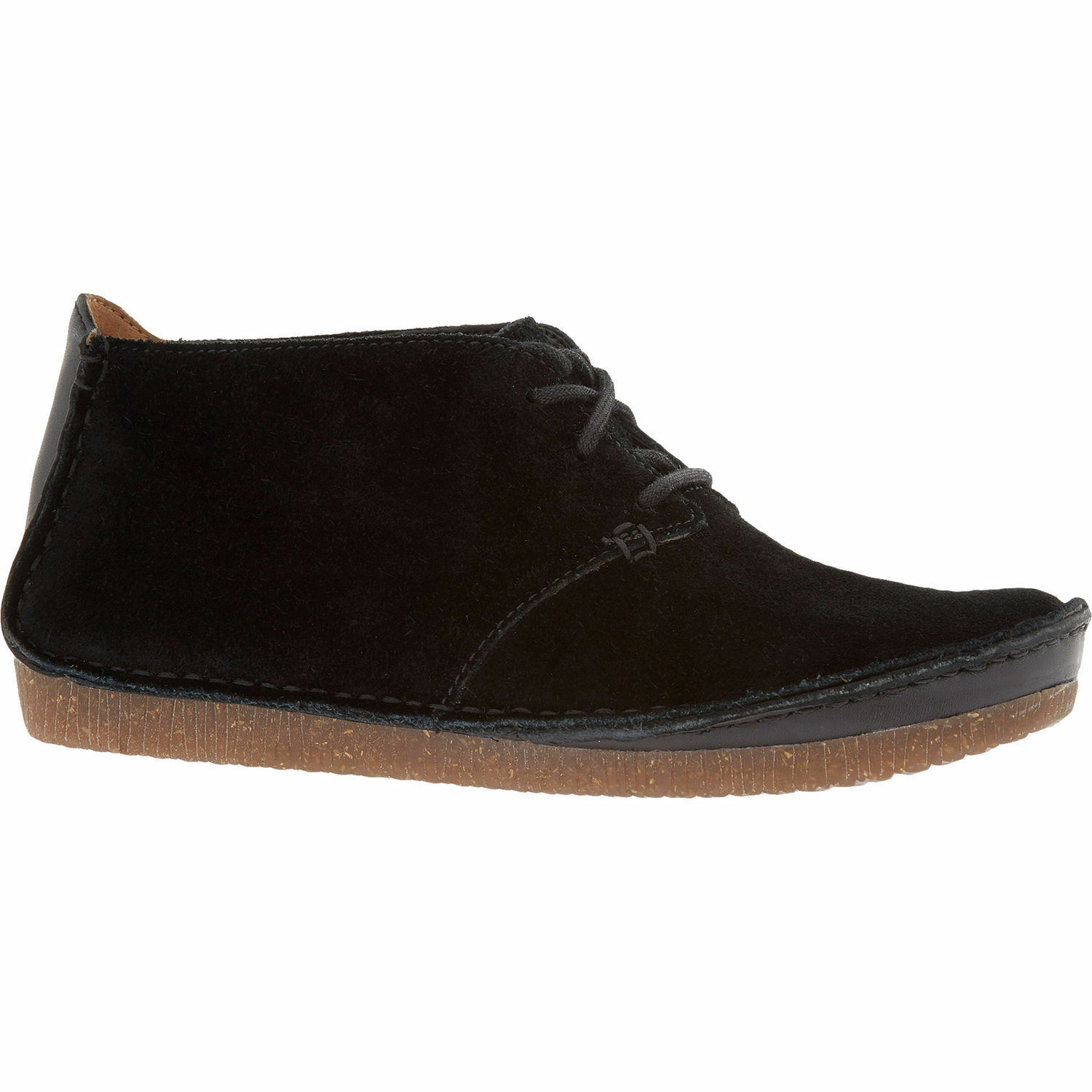 CLARKS Women's Black Suede Janey Lynn Ankle Boots - size UK 3.5   EU 36