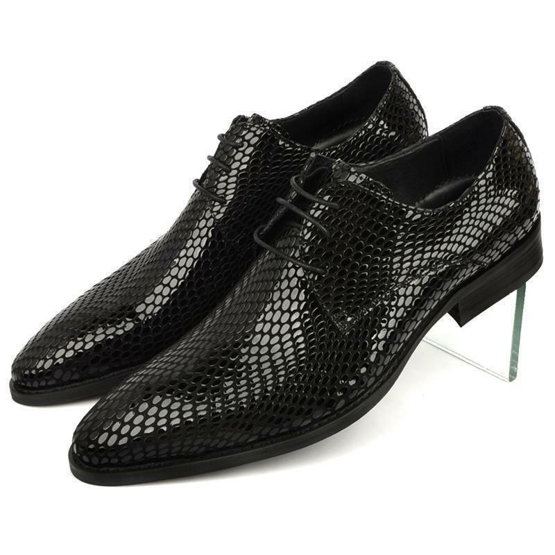 2016 Uomo Lace up Pelle Casual business wedding Formal Hot Oxfords Dress Shoes