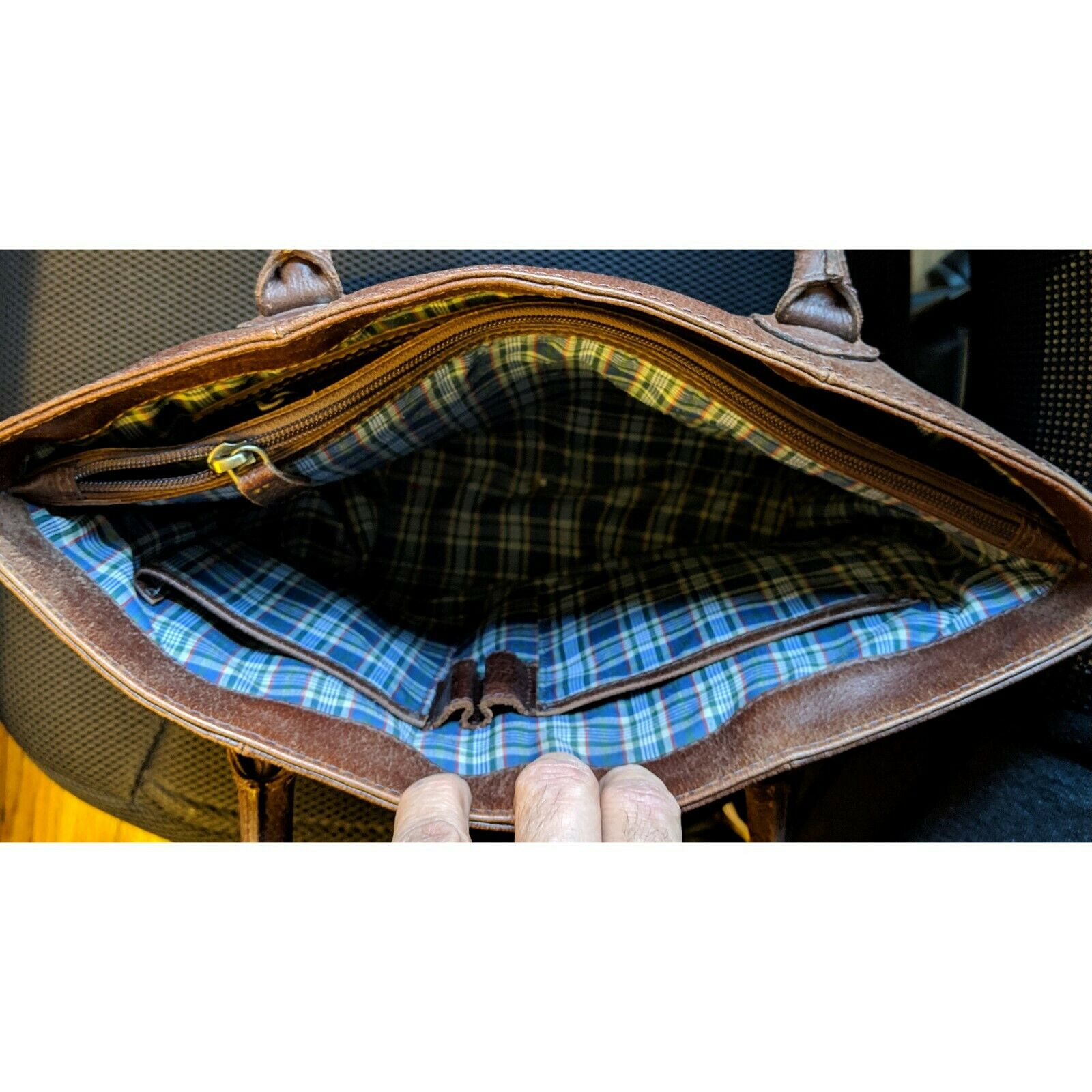 Style n Craft 392003 Men/'s Tote Bag in Full Grain Dark Brown Leather