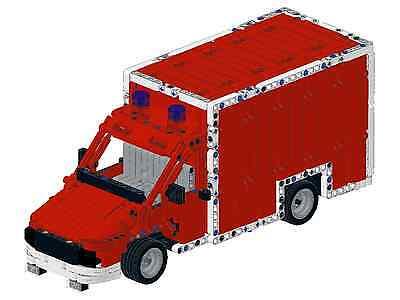 Bauanleitung instruction Feuerwehr Tankzug kom  Eigenbau Unikat Moc Lego Technic