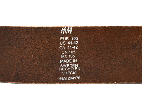 H/&M Mens Wide Leather Belt Multiple Colours and Sizes