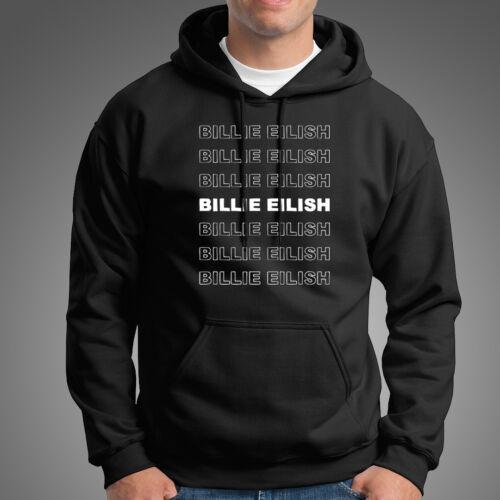 Billie Eilish Letter Mens Black Hoodie