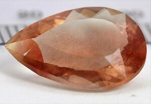 Natural Brown Sunstone Oval Shape Cabochon Certified Loose Gemstone 52.30 Ct Z335