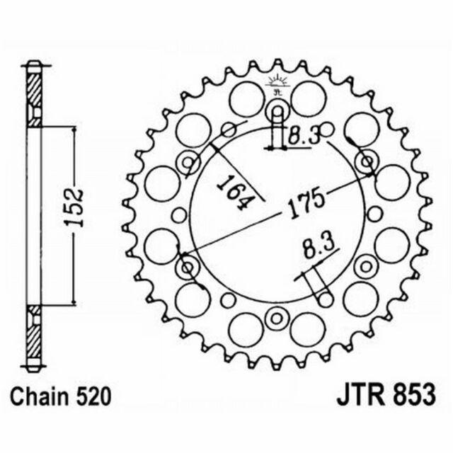 Engrenage JT 853 z51 Yamaha 465 YZ 1980-1981