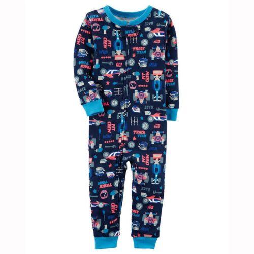 Carter/'s Navy Race Car Pit Crew Footless Cotton Pajama Sleeper