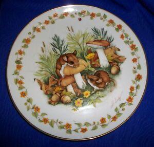 Peek-A-Boo-Woodland-Babies-Collector-Plate-Heidi-Lindy-Royal-Cornwall-Vtg-1983