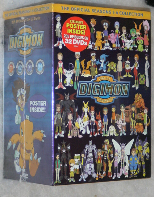 Digimon: Digital Monsters - Complete Season 1,2,3,4 DVD Box Set - NEW & SEALED