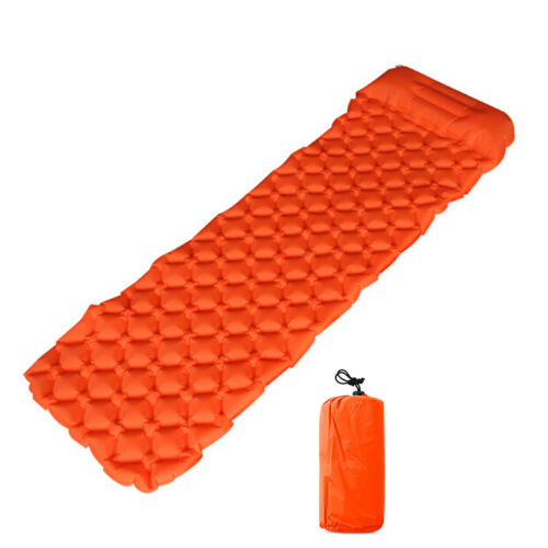 Camping Mat Ultralight Sleeping Pad With Pillow Outdoor Inflatable Mattress Tent