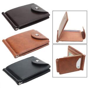 Men-Wallet-Soft-Leather-Short-Buckle-ID-Credit-Wallet-Luxury-Money-Clip-Bag-CA