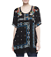 JOHNNY-WAS-Embroidered-DANNY-Short-Sleeve-Tunic-BLOUSE-Floral-S-268-NWT thumbnail 9