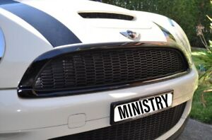 MINI-Cooper-S-Front-Grill-Overlay-Gen-II-Gloss-Black-R55-R56-R57-R58-R59-Cover