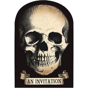 8 happy halloween poison skulls pirate party invitations plus
