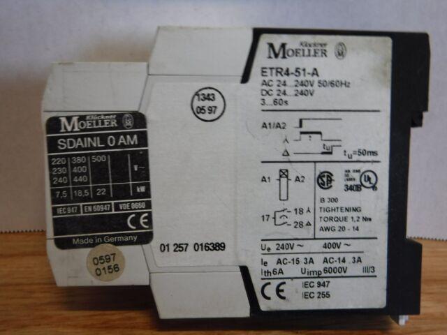 KLOCKNER MOELLER ETR4-51-A 240VAC//DC NSNP