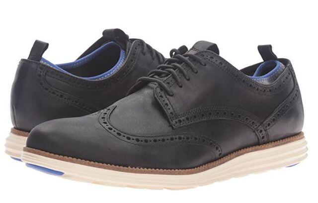 b55d0d7e1ea826 NEW Cole Haan Mens Original Grand Wing Novelty Sock P113905 Oxford Black  8.5 M