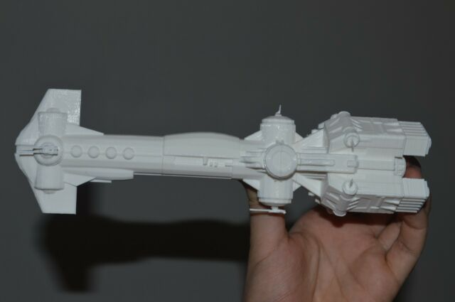Star Wars The Old Republic. CR-12 Thanta-class corvette. Unpainted. Assembled.