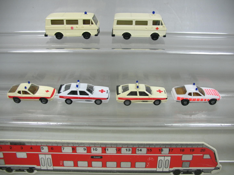 Af272-0, 5 X Herpa H0 Ambulance Emergency Doctor  VOLKSWAGEN VW LT, Porsche
