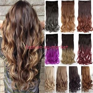 Real-Thick-1pcs-Clip-in-3-4-Full-Head-Hair-Extensions-Extension-as-human-hair-OC