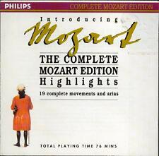 MOZART: COMPLETE MOZART EDITION HIGHLIGHTS - PHILIPS CD (1990) 19 TRACKS