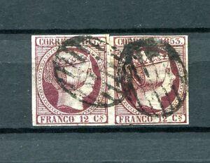 1853-ESPANA-EDIFIL-18-oder-pareja-firmado-Cajal-cat