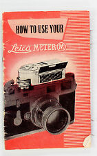 Original Leica Meter M Instructions - no print date - 16 pages