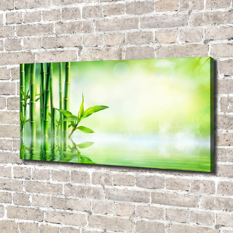 Leinwandbild Kunst-Druck 140x70 Bilder Blaumen & Pflanzen Bambus