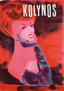 Original-1940s-Swiss-Design-Kolynos-Toothpaste-Poster-Lot-66