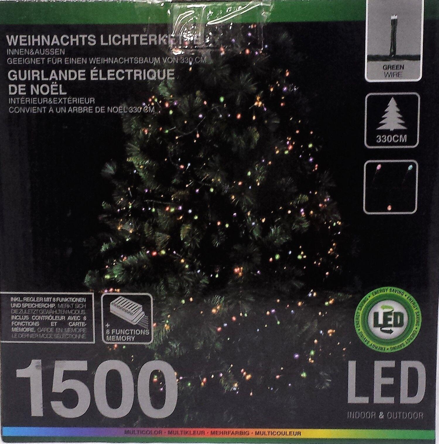 Lichterkette 1500 LED multiFarbe 8 Funktionen 330 330 330 cm Weihnachtsbaum Party fabb98