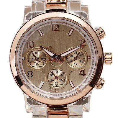 Vintage Golden Resin Design Luxury Fashion Dress Lady Quartz Wrist Watches Women