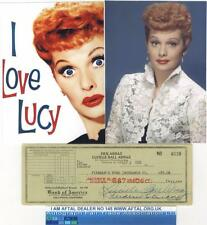 Lucille Ball vintage signed Bank Cheque / Check AFTAL