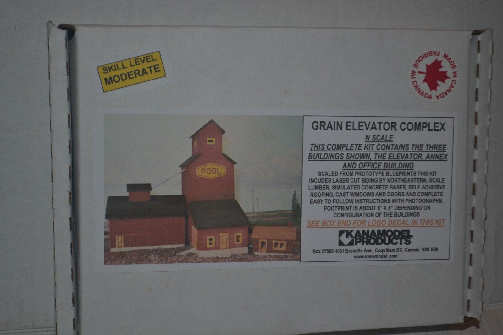 Kanamodel 6024 Grain Elevator Complex Manitoba Craftsman Style Model Kit N Scale