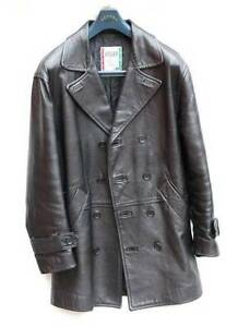 Leather-Jacket-Atelier-Men-039-s-Double-Breast-Pea-COST-NEW-899