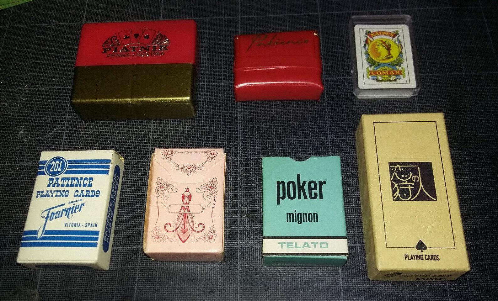 Lot 7 Mini jeux de autote -  Piatnik - Fournier - Muller -  Comas - Telato - neufs  più economico