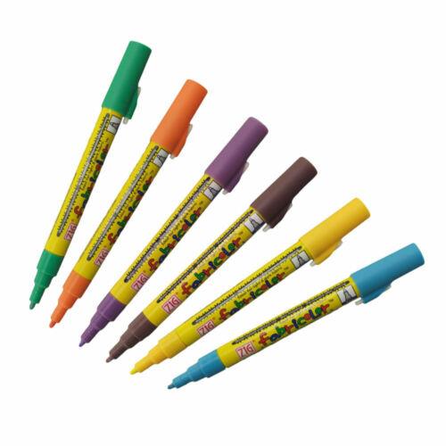 Zig Fabricolor Tela marcador pluma de un solo extremo-Colores Individuales