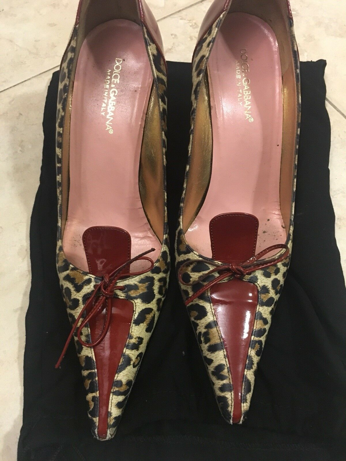 100% Authentic Dolce & 8 Gabbana Leopard Pumps Größe 8 & cbcbb5
