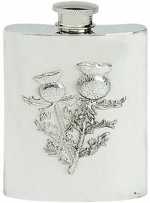 Rugby Player Pewter Hip Flask 6oz Gift Boxed FREE ENGRAVING Made in Sheffield