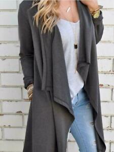 Fashion-Women-039-s-Slim-Long-Coat-Jacket-Trench-Windbreaker-Parka-Outwear-Cardigan