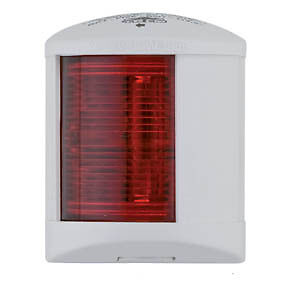 Port Red 12v 10w Trem Square Midi White Navigation Light