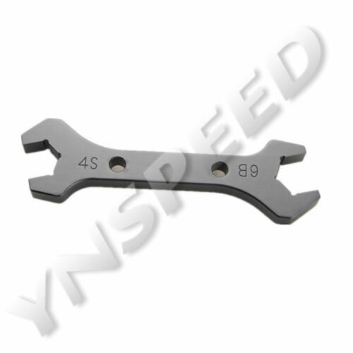 AN-4 AN4 Double Ended Wrench Spanner Black Fitting Tool Anodized US AN-6 AN6