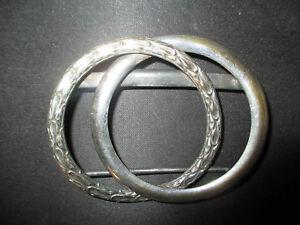 Ancienne Boucle De Ceinture En Métal Argenté à Décor De Feuillage Fin Xix ème Onilyaiv-07214523-164001109