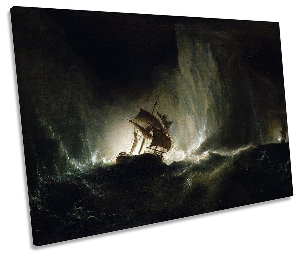Richard Brydges Beechey HMS Erebus Picture SINGLE CANVAS WALL ART Print